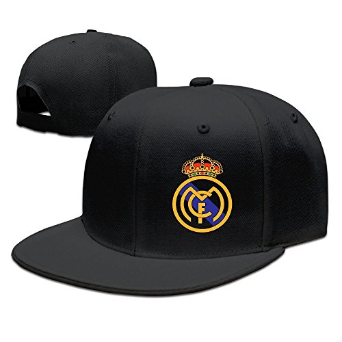 YhsukRuny Custom Real Madrid Club De F¨²tbol Logo Adjustable Baseball Hat/Cap Black