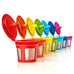 GoodCups 7 Reusable Rainbow Colors K Cups Refillable KCups Coffee Filters for Keurig 2.0