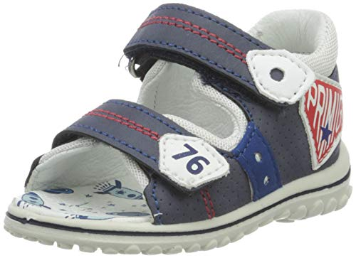 PRIMIGI Baby Jungen Sandalo PRIMI PASSI Bambino Sandalen, Blau (BLU/Bianco 5365400), 21 EU