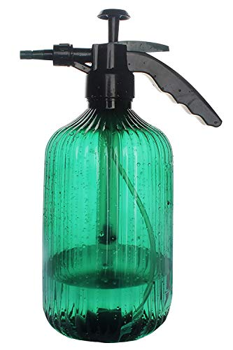 Alluroman Pulverizador para plantas, 2 L, para jardín, pulverizador de agua, pulverizador a presión, regadera verde de plástico
