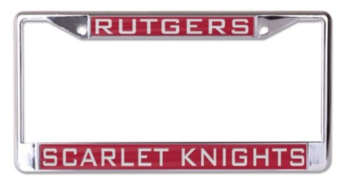 WinCraft NCAA Rutgers University Scarlet Knights 6 x 12 Inlaid Acrylic/Metal License Plate Frame