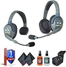 Eartec UL2SD Ultralite 2-Person Headset System with 6Ave Heaphone and Microphone Cleaning Kit
