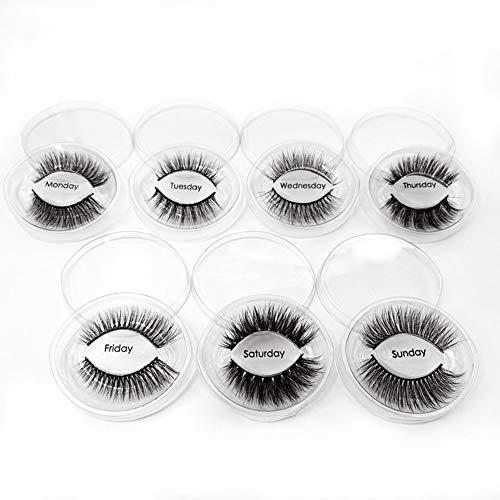 XFE-False Eyelashes Falsche Wimpern Mit Hohem Volumen 3D Faux Nerz Wimpern Handgemacht Dramatisch Flauschig Natürliche Falsche Wimpern 7 Paar Packung Mixed Pack