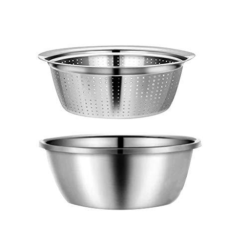 Edelstahl Waschbecken Abfluss Becken Set Spüle Camping Waschschüssel Camping für Küche Zusammenklappbare Küche Korb Eimer für Filter Küche Gemüse Frucht (Silber)
