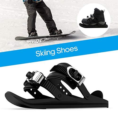 LYRAL 1 Paar Ski Schoenen Mini Ski Skates voor Sneeuw, Verstelbare Skiën Sled Snowboard Ski Schoenen voor Mannen Vrouwen, voor Downhill op En Uit De Slopes, Forest Trails