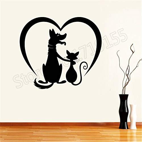 BailongXiao Rahmenlos-Tierpflege Aufkleber Poster Kunst Salon Tier Katze Katze Hund Aufkleber Haustier