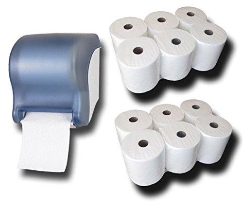 Handtuchrollen Spender mit Sensor + 12 Handtuchrollen Premium Starter SET