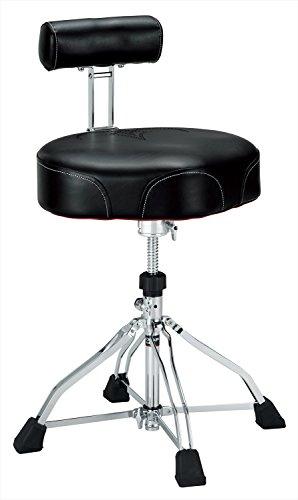 3. Tama 1st Chair Ergo-Rider Drum Throne with Backrest Black