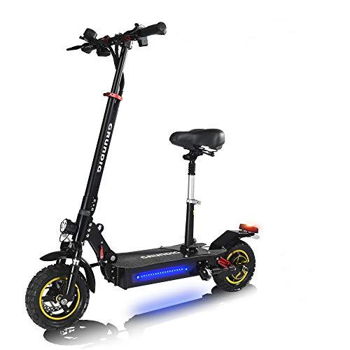 """GRUNDIG Elektro Scooter mit Sitz , Faltbarer Elektroroller mit LED Anzeige , E-Scooter mit 800W Motor , 60 Km Reichweite , 10\"""" luftgefüllte rutschfeste Reifen , für Jugendliche und Erwachsene"""