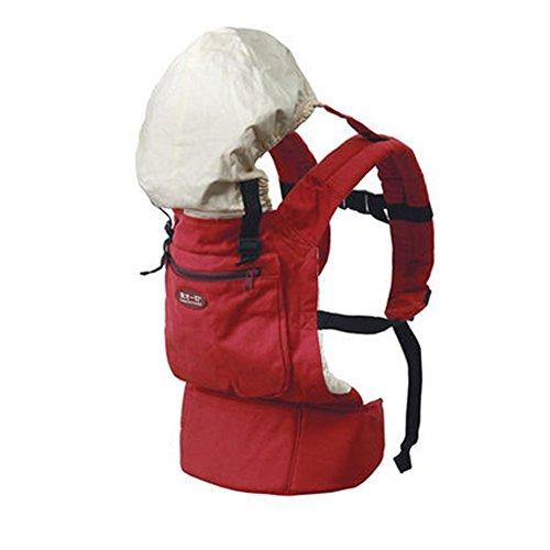 Populaire Coton bébé nouveau-né Carrier Infant réglable avec chapeau (Rouge)