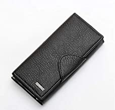 Long Casual Wallet for Women - Leather,Black