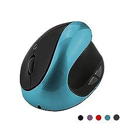Conception ergonomique scientifique - Cette souris verticale est conçue pour permettre un positionnement naturel de la main et un confort ultime. Elle soulage la tension du poignet et de la main pour les droitiers. Cette souris sans fil réduira sûrem...