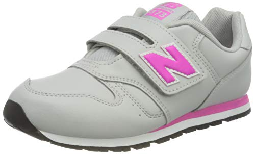 New Balance 373 YV373EGP Medium, Zapatillas Niñas, Grey (Light Aluminum EGP), 35 EU