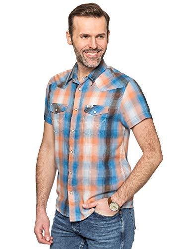 Wrangler Herren SS Western Shirt Freizeithemd, Schwarz (Faded Black Xv6), X-Large (Herstellergröße: XL)
