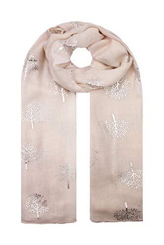 Fijnheid In Zilver folie Moerbei Boom Print Mode Sjaal Wrap