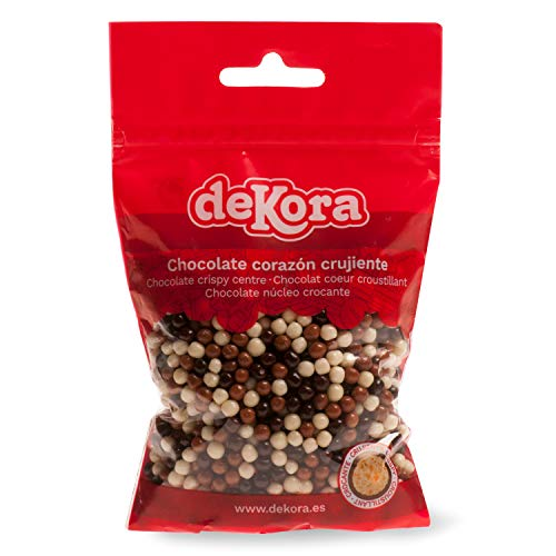 Dekora - Mini Perlas de Chocolate Crujientes para Tartas Decoradas
