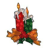 Northlight 17' Lighted Holographic Candle Christmas Window Silhouette Decoration