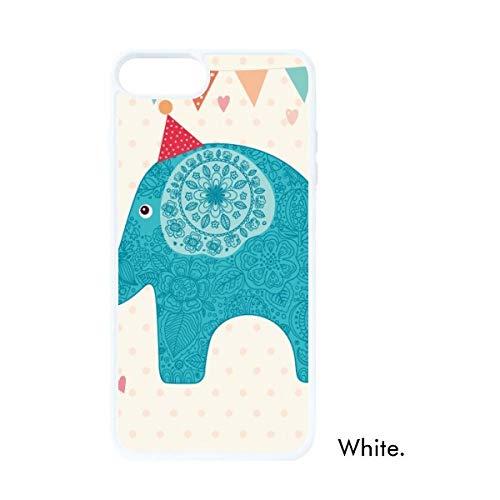 DIYthinker Rode Hoed Olifant Blauwe Vlag Kleurrijke Witte Phonecase Apple Cover Case Gift