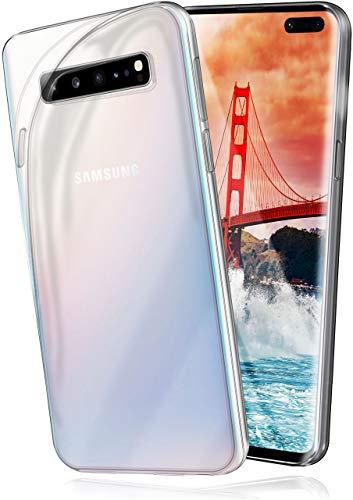 moex Aero Hülle kompatibel mit Samsung Galaxy S10 5G - Hülle aus Silikon, komplett transparent, Klarsicht Handy Schutzhülle Ultra dünn, Handyhülle durchsichtig einfarbig, Klar