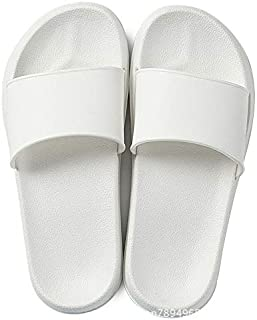 Slides Women's Slippers Home Summer Flip Flops Woman Slippers Ladies Female Shoes Fluffy 2019 Designer Sandals White