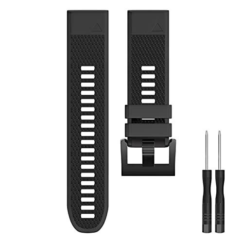 Watch Strap for Garmin Fenix 5/5 Plus,Replacement Wristband Compatible with Garmin Fenix 6/6 Pro,Forerunner 935 945 (Black)