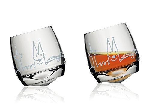 Unbekannt Witziges Wackelglas ~ Agrippina ~ Wasserglas Trinkglas Glas Skyline Köln kölsch