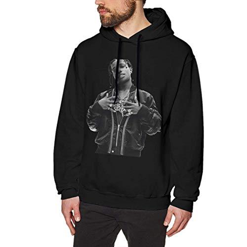 MAichengxuan Sudadera con capucha para hombre, A$AP Rocky Fashion para hombre, color negro