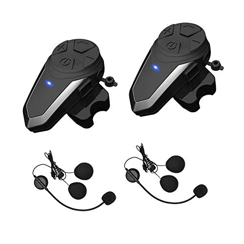 Yaconob Motorcycle Bluetooth Headset BT-S3 1000m Motorcycle Helmet Bluetooth Radio Intercom Wireless Interphone to 2-3 Riders (Waterproof/Handsfree/Stereo Music/FM Radio/GPS/MP3 2 Pack