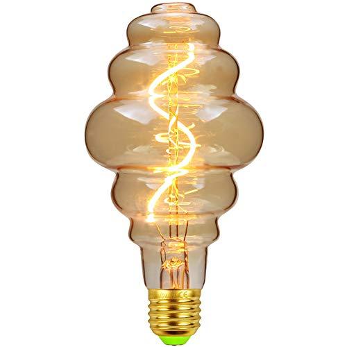 TIANFAN Vintage LED-Lampen 4W dimmbar unregelmäßig geformte 220 / 240V Edison Schraube E27 Basis Spezialität dekorative antike Glühbirne (Beehive)