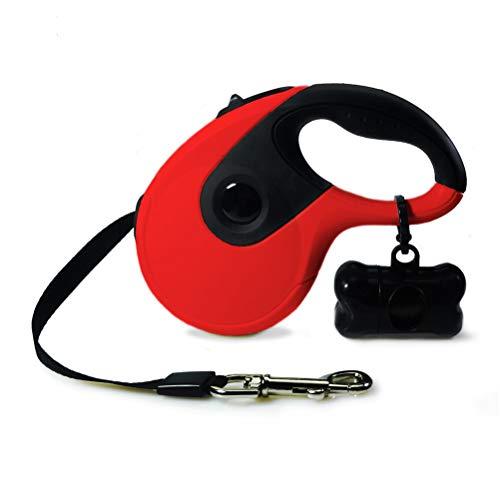 Kinter Hondenriem, antislip, nylonband, ergonomisch rubber, veiligheidssysteem, huisdier, linnen, zakdispenser, hondentractor voor honden