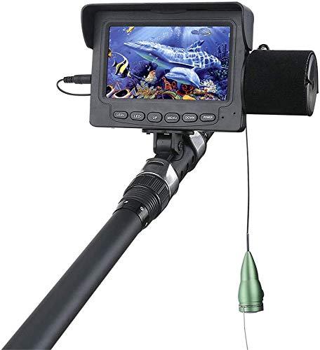 YUKM Fischfinder Unterwasser-Angeln-Videokamera, 6 Stück IR-LED-Lichter Nachtsicht Wasserdicht 4,3-Zoll-Monitor-Kamera Für See-Meerboot-Kajak-Eisfischen Mit 15M Kabel
