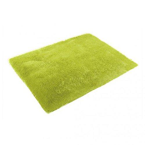 FLAMEER Tapis Moelleux Anti-dérapant Zone Shaggy Tapis De Sol De Tapis Tapis De Chambre Feu Vert