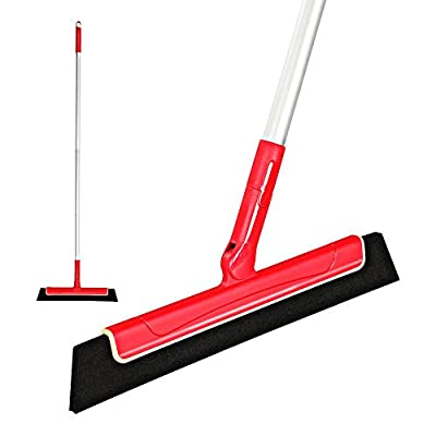 "CLEANHOME Floor Squeegee to Remove Water for Bathroom 51"",Professional for Wood Floor,Tile,Glass,Window, Shower Pool Deck Pet Hair Wiper Squeegee Broom"