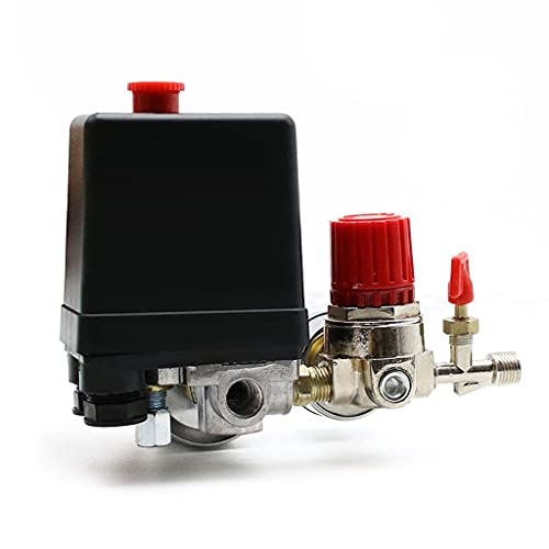 Luftkompressor Druckschalter Steuerventil Regler Kompressorschalter mit Messgerätenmit 4 Phasen 0.05-0.8 MPa