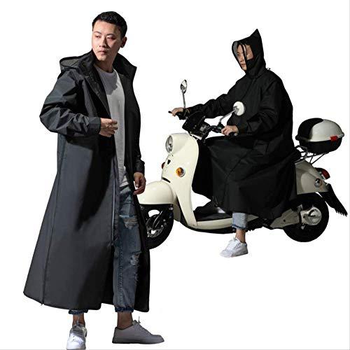 Chubasquero para mujer y hombre con cremallera y capucha para motocicleta, estilo largo, poncho de senderismo