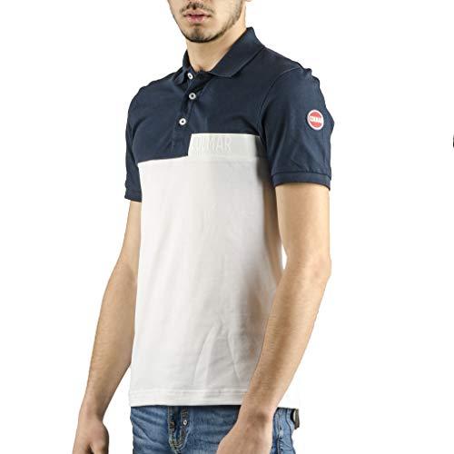 Colmar Poloshirt zweifarbig für Herren, Weiß Small