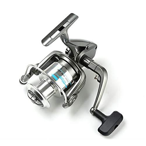 Rueda de pesca 5 rodamientos de acero inoxidable con alambre de metal, carrete de pesca anti-reversa 4.6: 1 caña de mar pesca (color: gris, tamaño: 3000)