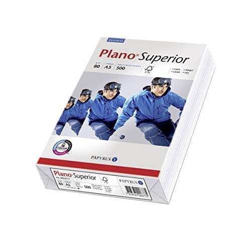 Papyrus 88026798 Ramette de 500 feuilles de papier multifonctions A5 80 g/m² PlanoSuperior (Blanc)