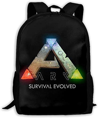 TTmom Mochilas Tipo Casual,Bolsa de Viaje Ark Survival Evolved Logo Unisex Backpack Shoulder Bag School Backpack Travel Bags Laptop Backpack