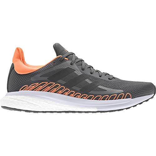 adidas Solar Glide ST M, Zapatillas para Correr Hombre, Grey Six/Core Black/Screaming Orange, 43 1/3 EU
