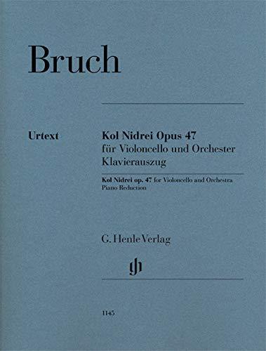 Kol Nidrei Opus 47 für Violoncello und Orchester, Klavierauszug