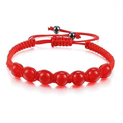 Men's and women's bead bracelets Black Lava Stone Bracelet Prayer Adjustable Red Braided Rope Yoga Reiki Balance Women Beaded Bracelets Bangles Jewelry Business birthday gifts