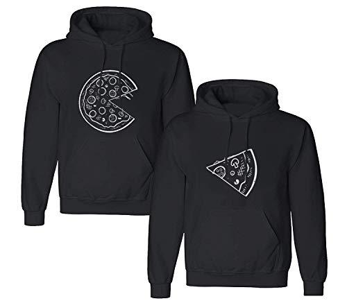 Friend Shirts Couple Hoodie Pizza para bluza z kapturem zestaw partnerski look sweter 1 sztuka ochrona
