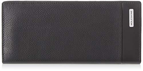 Moleskine - Cartera clásica, 100% Piel con 15 Solapas para Tarjetas de crédito y Monedero, tamaño 9 x 19 x 2 cm, Negro