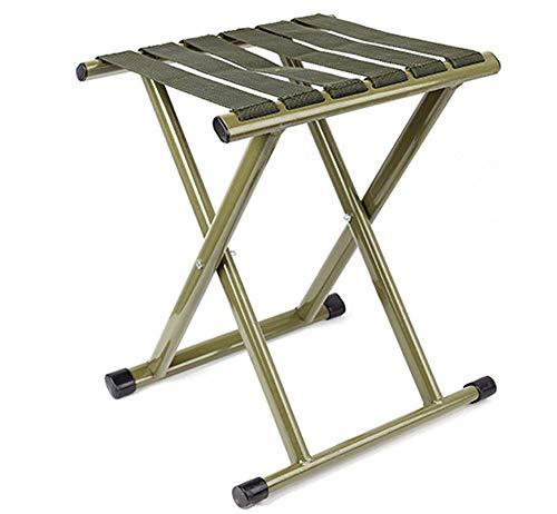 CHENDZ Chaise pliante tabouret pliant Mazar pliant portable mini chaise de pêche épaississante extérieure petit banc tabouret 27x31x38cm Chaise portable d'extérieur (Color : Green)