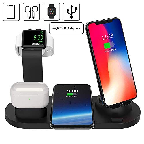 DoSHIn Wireless Charger With Adapter 4 IN 1 Wireless Charger Stand 10W Fast...