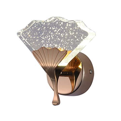 Lámpara de Pared Lámpara de Pared Luz Lectura de Lujo Dormitorio Interior Mesita de Noche Cristal Burbuja Ginkgo Luces de Pasillo Escaleras de Personalidad Luces de Pared