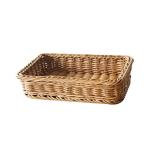 Eiermand, Compact Draagbaar Buitenshuis Picknick Geweven Manden Nep Rotan Broodtrommel Fruit Geschenk Diversen Opslagruimte (Color : Primary color, Size : L)