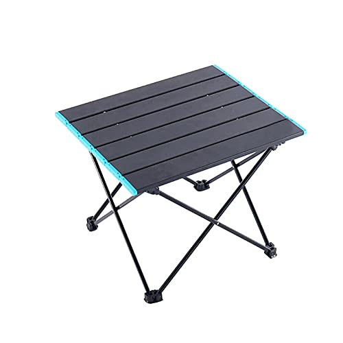 Mini mesa plegable para exteriores - Portátil de 1014 g para acampar al aire libre, mesas plateadas, mesa pequeña de aleación de aluminio con 1 bolsa de almacenamiento para actividades en el interior,