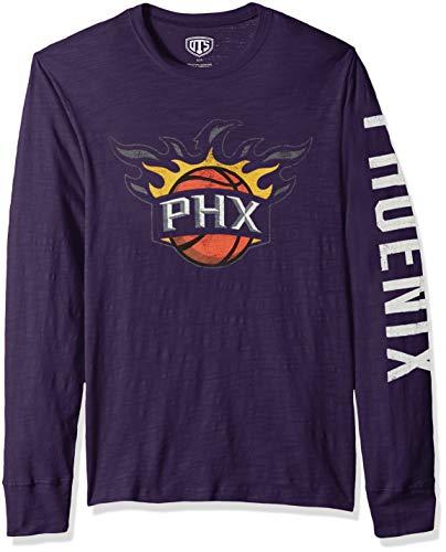 OTS NBA Phoenix Suns Men's Slub Long Sleeve Team Name Tee, Distressed Sinclair, X-Large